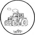 Basteln Stechkarten - Stechkarte Traktor