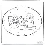 Ausmalbilder Weihnachten - Stechkarte Weihnachten 1