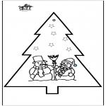Ausmalbilder Weihnachten - Stechkarte Weihnachten 2