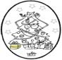 Stechkarte Weihnachtsbaum 3