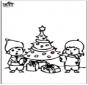Stechkarte Weihnachtsbaum 4