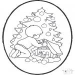 Basteln Stechkarten - Stechkarte Weihnachtsbaum