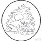 Stechkarte Weihnachtsbaum