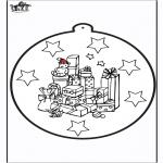 Ausmalbilder Weihnachten - Stechkarte Weihnachtsgeschenk 1