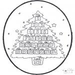 Basteln Stechkarten - Stechkarte Weihnachtskalender