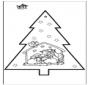 Stechkarte Weihnachtskrippe 2