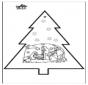 Stechkarte Weihnachtskrippe 3