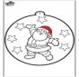 Stechkarte Weihnachtsmann