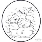 Basteln Stechkarten - Stechkarte Winter 2