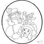 Basteln Stechkarten - Stechkarte Winter 3