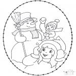 Basteln Stickkarten - Stechkarte Winter