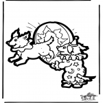 Basteln Stechkarten - Stechkarte Zirkus
