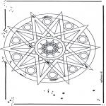 Malvorlagen Mandalas - Stern Mandala 1