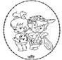 Stichkarte Flintstones