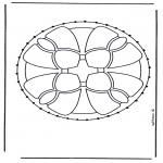 Basteln Stickkarten - Stickkarte  1
