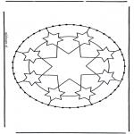 Basteln Stickkarten - Stickkarte 4