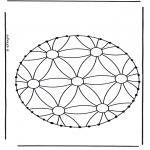 Basteln Stickkarten - Stickkarte 5