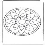 Basteln Stickkarten - Stickkarte 7