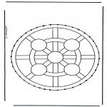Basteln Stickkarten - Stickkarte 8