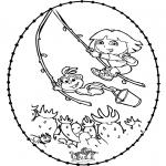 Basteln Stickkarten - Stickkarte - Dora