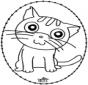 Stickkarte - Katze