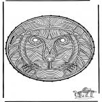 Basteln Stickkarten - Stickkarte Löwe