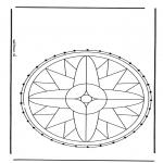 Basteln Stickkarten - Stickkarte Mandala 1