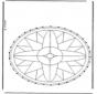 Stickkarte Mandala 1