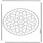 Basteln Stickkarten - Stickkarte Mandala 2