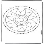Basteln Stickkarten - Stickkarte Mandala 3