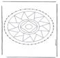 Stickkarte Mandala 3