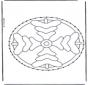 Stickkarte Mandala 4