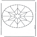 Basteln Stickkarten - Stickkarte Mandala 5
