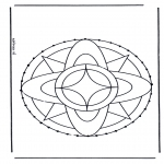 Basteln Stickkarten - Stickkarte Mandala 7