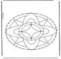 Stickkarte Mandala 7