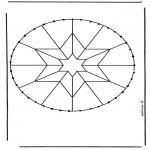 Basteln Stickkarten - Stickkarte Mandala 8
