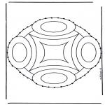 Basteln Stickkarten - Stickkarte Mandala 9