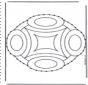 Stickkarte Mandala 9