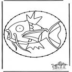 Basteln Stickkarten - Stickkarte Pokemon