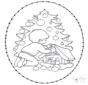 Stickkarte Weihnachtsbaum