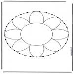 Basteln Stickkarten - Stickmandala 1