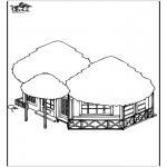 Allerhand Ausmalbilder - Strandhaus