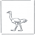Ausmalbilder Tiere - Strauss 2