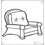 Allerhand Ausmalbilder - Stuhl