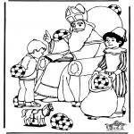 Basteln Stechkarten - Suche 10 Fussbälle