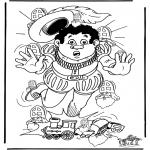 Basteln Stechkarten - Suche 10 Sankten