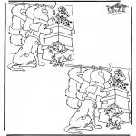 Malvorlagen Basteln - Suche 10 Unterschiede 1