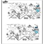 Basteln Stechkarten - Suche 10 Unterschiede Sankt 4