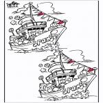 Basteln Stechkarten - Suche 10 Unterschiede Sankt 5