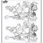 Basteln Stechkarten - Suche 10 Unterschiede Sankt 6